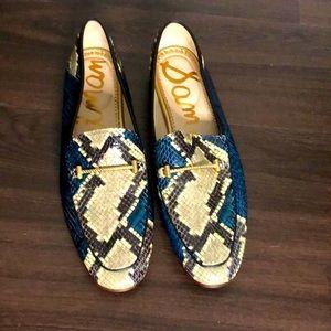 NEW! Sam Edelman Lior Snakeskin Embossed Loafers